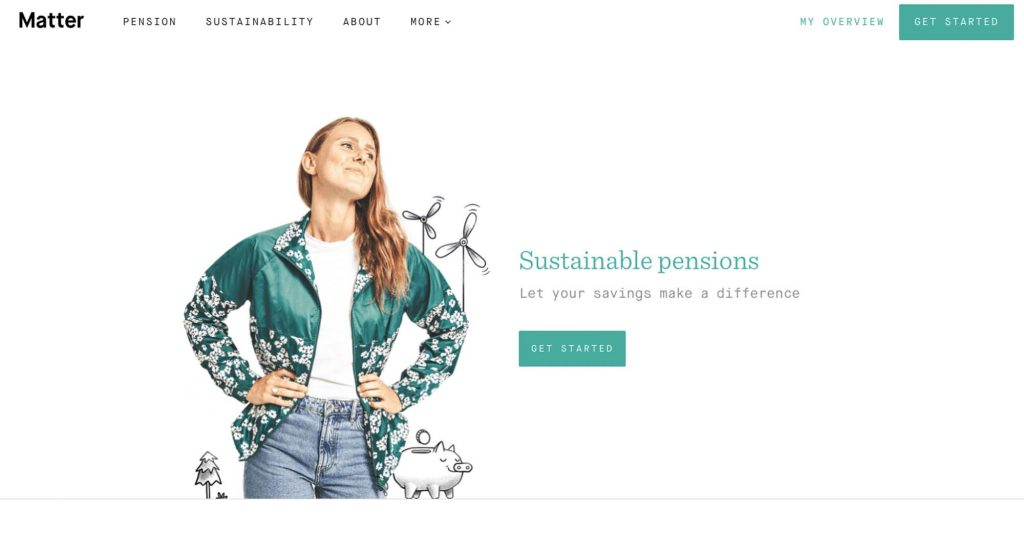 Matter – an online approach to a sustainable pension